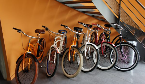 VERTIC's employee can benefit from many bikes to ride ecologically!